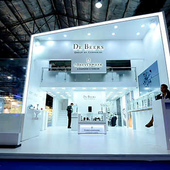 Exhibition Booth Fabrication : Exhibit design and build trade show booth contractor india