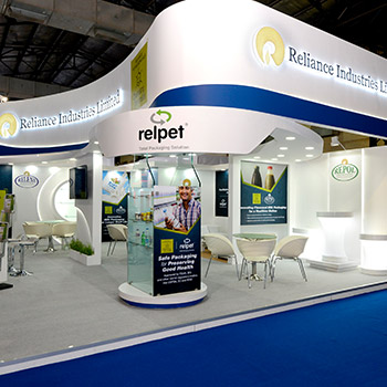 New Exhibition Stand Design : Exhibit design and build trade show booth contractor india