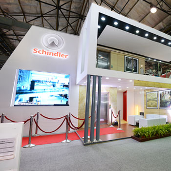 Exhibition Booth Contractor : Exhibit design and build trade show booth contractor india